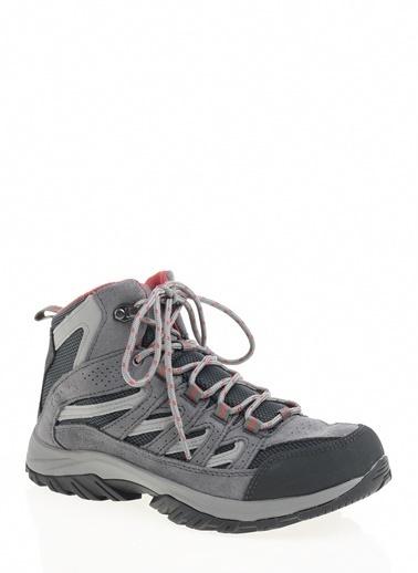 Columbia 1765401-053 Crestwood# Mıd Waterproof Kadın Spor Ayakkabı Gri Renkli